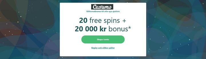Casumo med BankID inloggning och bonus
